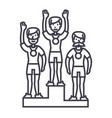 winner podium sport teamfirst placeolympics vector image