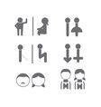 set of wc toilet bathroom icon symbol vector image