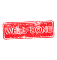 WELL DONE red Rubber Stamp vector image