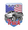 car off-road 4x4 suv emblem badge born to vector image