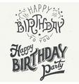 Happy birthday hand drawn typographic design set vector image