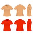 men polo t shirts vector image
