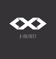 Infinity sign or letter X idea of modern logo vector image