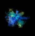 abstract polygonal dark blue geometric background vector image