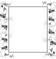 agapanthus flower outline banner card border vector image vector image