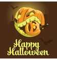 background Halloween style with pumpkins vector image vector image