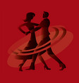 ballroom dancing couple vector image vector image