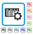 bar code settings framed icon vector image vector image