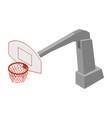 basketball hoop net vector image