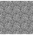 black and white seamless pattern with circles vector image