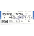blue boarding pass vector image vector image