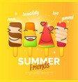 bright of ice cream vector image