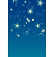 Card template with stars and space for your text vector image vector image