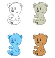 cartoon drawing of cute little bears vector image vector image