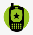 cellphone design vector image vector image