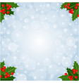 christmas decorative card background vector image vector image