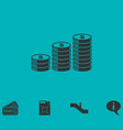 coins icon flat vector image