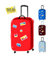collection of of travel bags vector image vector image