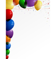 Colorful balloons and confetti vector image