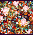 colorful seamless paisley pattern decorative vector image vector image