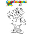 coloring book with funny clown vector image