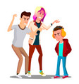 conflict with parents father and mother scolding vector image vector image