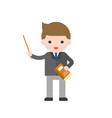 cute character of teacher or businessman back to vector image