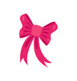 cute pink bow accessory for a little princess or vector image
