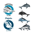 Dolphin Emblem Set vector image vector image