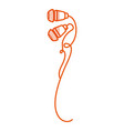earphones sound isolated icon vector image vector image