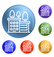 ecologic house icons set vector image vector image