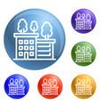 ecologic house icons set vector image