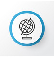 education globe icon symbol premium quality vector image