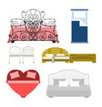 exclusive sleeping furniture design bedroom with vector image vector image
