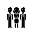 financial team black icon sign on isolated vector image vector image