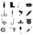 Fishing tools items icons set simple style vector image vector image