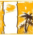 grunge palm vector image vector image