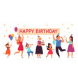 happy birthday party concept family event people vector image