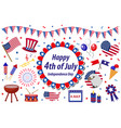 independence day america celebration in usa icons vector image vector image