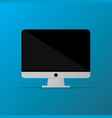 isolated desktop computer icon pc monitor icon vector image