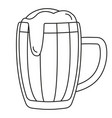 line art black and white beer mug vector image vector image