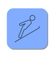 linear icon of skier jumping from a springboard vector image vector image