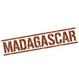 Madagascar brown square stamp