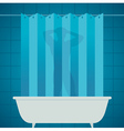 man silhouetter in shower bathing bathroom vector image vector image
