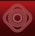 Mandala decorative style relaxation red background