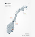 norway infographic map vector image