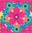 pink flower floral background nature decoration vector image