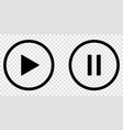 play and pause black buttons vector image