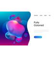 purple liquid background in 3d style web design vector image vector image