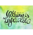 quote phrase on watercolor background vector image vector image